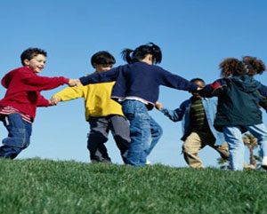 LifeWay Elementary - Children playing in field